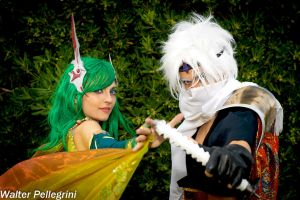 Rydia and Edge by Eyes-0n-Me