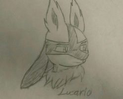 Lucario practice by Luissalazar57857