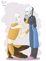 Altertale Sans and Papyrus by Ykifume