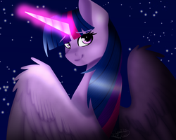 (Collab) Twilight's Magic by SashaArtheart