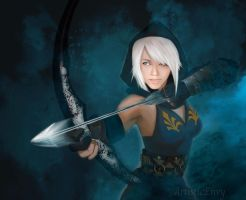 Ashe: league of Legends by ArtisticEnvy