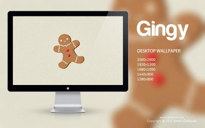 Gingy Wallpaper by Abstx