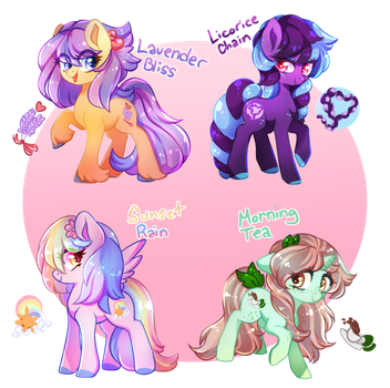 Let's Get Colorful Adopts (CLOSED) by Naughty-Savage
