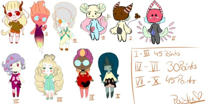 Adoptables by RoyalPaint