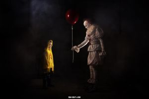 Pennywise and Georgie by LeanAndJess