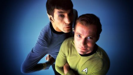 Spock and Kirk by Dave-Daring