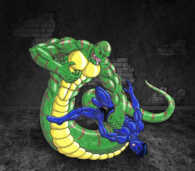 Zboy vs King Snake 3 - Color by 09tuf