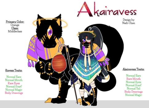 [CLOSED Adopt OTA] Akairavess and Ravess by Nadi-Chan