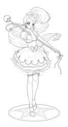 Mahou Shoujo Character Design 1-lines by spaceprincess42