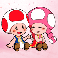 Toad x Toadette by zeldasmelody