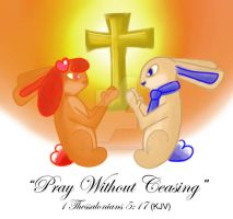 Praying Bunnies by AngelicEmpyress