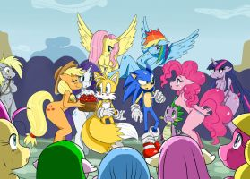 Sonic in Ponyville -Colored- by ss2sonic