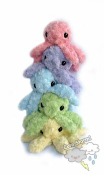 Rainbow Pile of Octopus by The-Cute-Storm