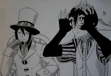 Ao No Exorcist : Amaimon and Mephisto by AlienGirl34