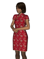 Qipao A for Genesis 3 Female by amyaimei