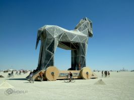 Burning Man Trojan Horse by katu01
