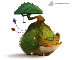 Daily Painting 883. Earth Day Chia by Cryptid-Creations
