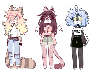 ANTHRO ADOPTS #6 [CLOSED!] by honyhonn