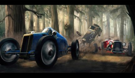Classic Car Race by AlexJJessup