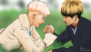 Namjoon and Jin by quinntheking