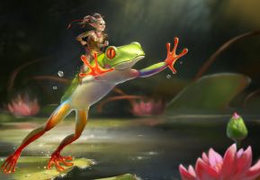 The frog rider by Malabra