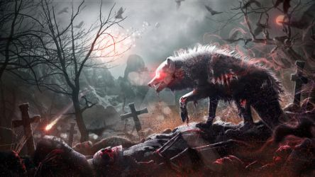 Night of the Zombie Wolf by Mr-Ripley