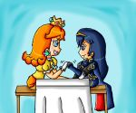 Daisy and Lucina arm wrestling by ninpeachlover