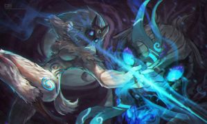 Kindred speed paint by MonoriRogue