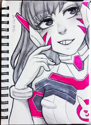 Sketchy D.Va - Overwatch by Didules