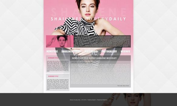 Shailene Woodley Premade Theme by BurningBrightDesigns