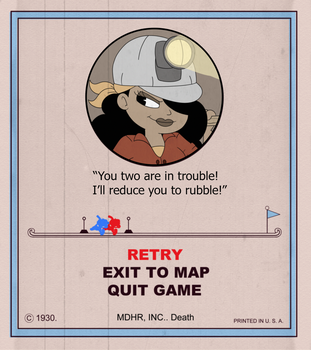 Rita Rocksteady game over card stage 1. by BlackMasqrade