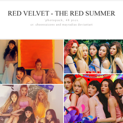Red Velvet - The Red Summer Photopack by mayradias