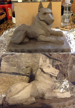 Fen'Harel clay sculpture WIP. by shadee