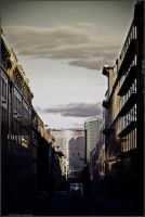 BEBXL - clouds over the street by andyshade