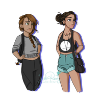 Modern Artemis and Athena by JadeAriel