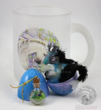 Coral Reef Elemental Hatchling Mini Poseable Doll by M-J-Albert