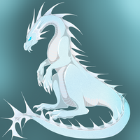 Ice Dragon by wingedwolf94