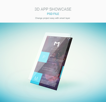 Freebie - Isometric App Screen Showcase by GraphBerry