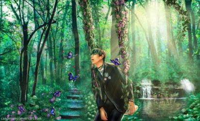 Taehyung`s Butterfly Dream (BTS V fanart) by candearmy