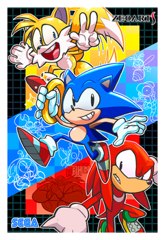 Sonic Tribute! by zeoarts