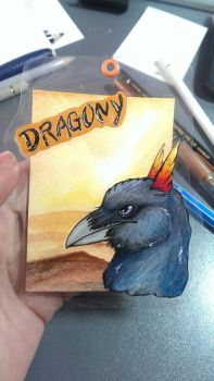 ACEO Badge Dragony by wolfgryph