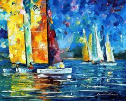 Close Encounter by Leonid Afremov by Leonidafremov