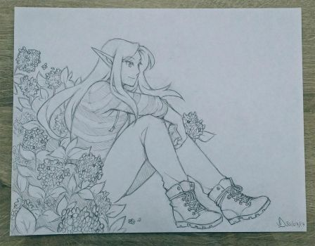 a bunch of flowers WIP by veroro