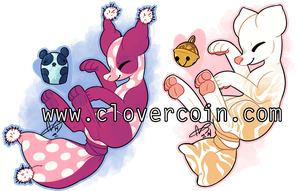 AUCTION: Pandots and Kitten Soft (CLOSED) by CloverCoin