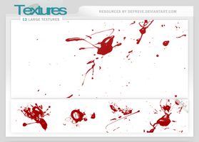 Textures - Blood Splatters by Defreve