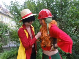 Luffy and Nami Movie Z Cosplay by Lucy-chan90