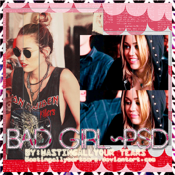 BAD GIRL~psd by WastingAllYourTears