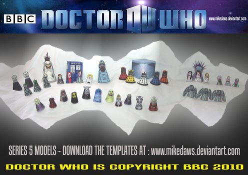 Doctor Who - Series 5 Models by mikedaws
