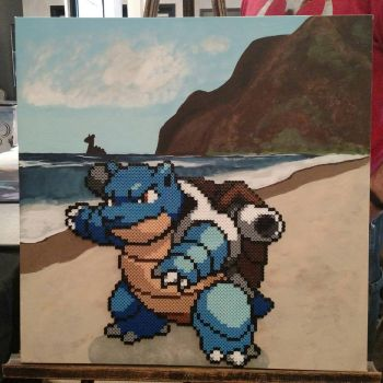 Blastoise perler canvas by NomDePixel