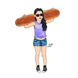 Skater Girl Part 2 by Inkstandy